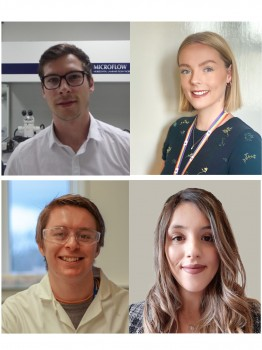 ECR advisors - top left clockwise: Paul Holloway (chair), Chloe Whitehouse,  Luana Osório and Matthew Hockley