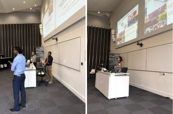 The morning talks from Researchers and Industry, chaired by ECR network member Dr Clare Thompson and Dr Pranav Vasanthi